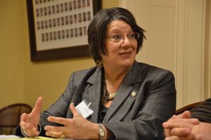 State Rep. Nickie Antonio is working with Sen. Hagan on many issues related to fracking and severance taxes in Ohio.