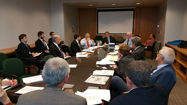 OFU leaders and other CAUV stakeholders meet with State Rep. John Patterson and Vice Chairman of the House Ways and Means Committee Gary Scherer in December.