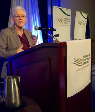 U.S. EPA Administrator Gina McCarthy also spoke to NFU conventioneers on Monday.