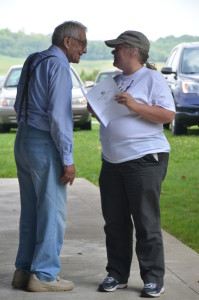 Mel Borton, left, talks to fellow OFU member Karen Wood at OFU's summer picnic in 2014. The Ohio Farmers Union is the second-largest general farm organization in Ohio.