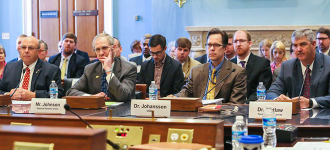 NFU's Johnson Testifies on Capitol Hill