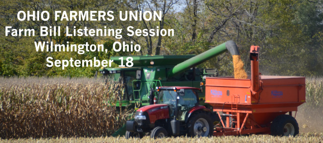 Wilmington Farm Bill Listening Session is September 18